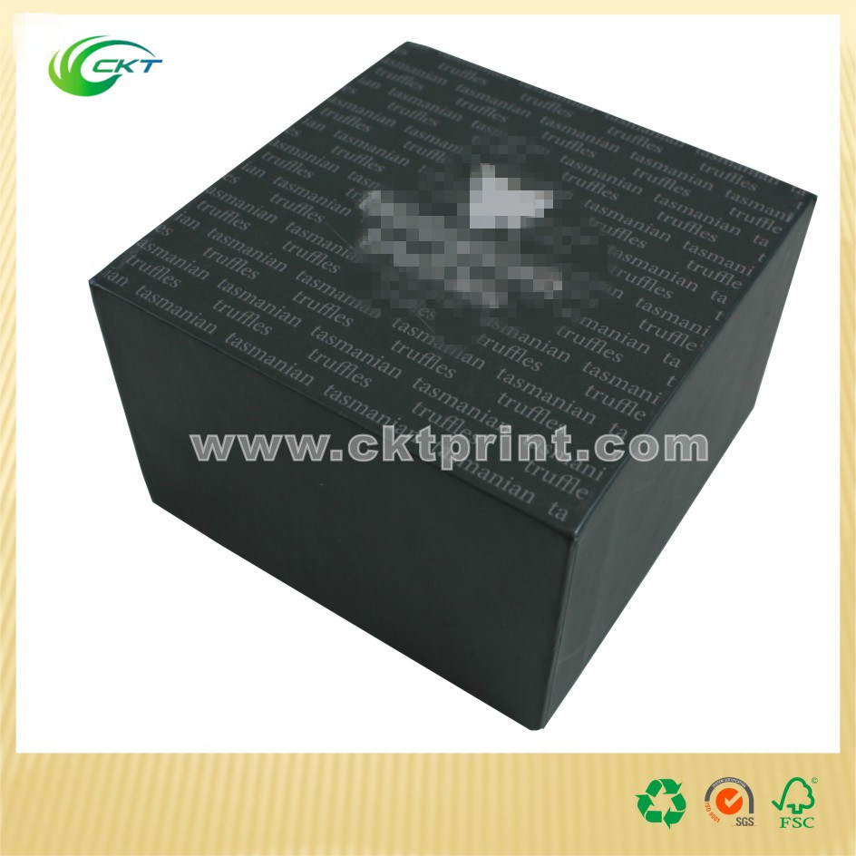 Fashion Perfume Packaging Box with Gold Foil (CKT-CB-125)