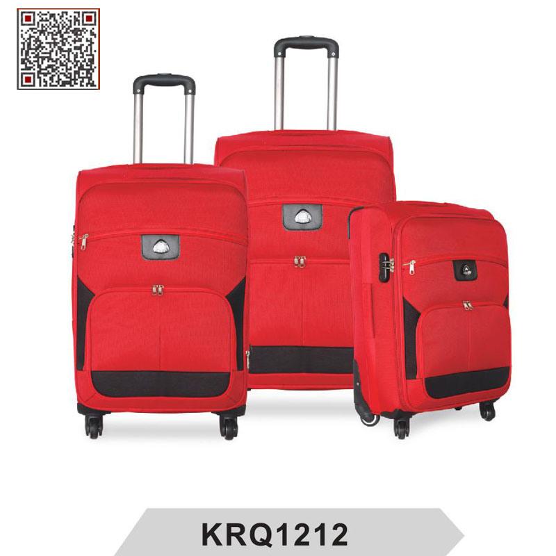 Fashion Soft 1200d Polyester Travel Trolley Luggage