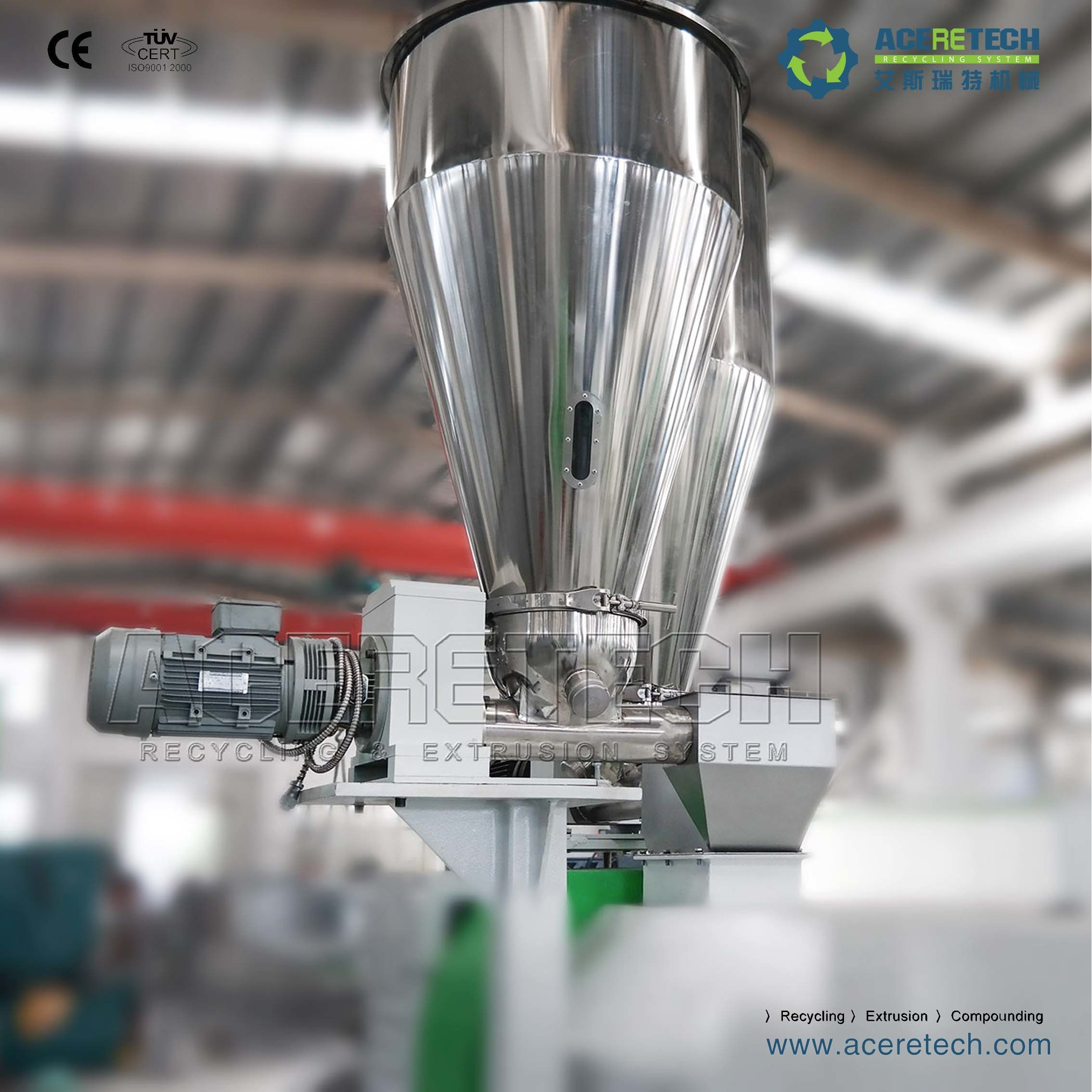Austria Technology Single Screw Recycling Pelletizing Line