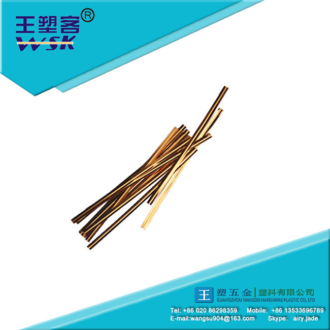 High Quality Golden/Silver Twist Cable Tie (PE/PVC)