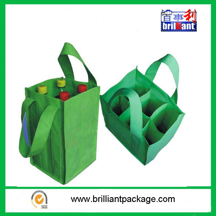 Cheap Reusable Non Woven Bottle Bags with Handle Bag