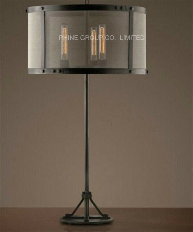 Interior Decorative Table/Desk Lamp with Metal for Bedside or Study