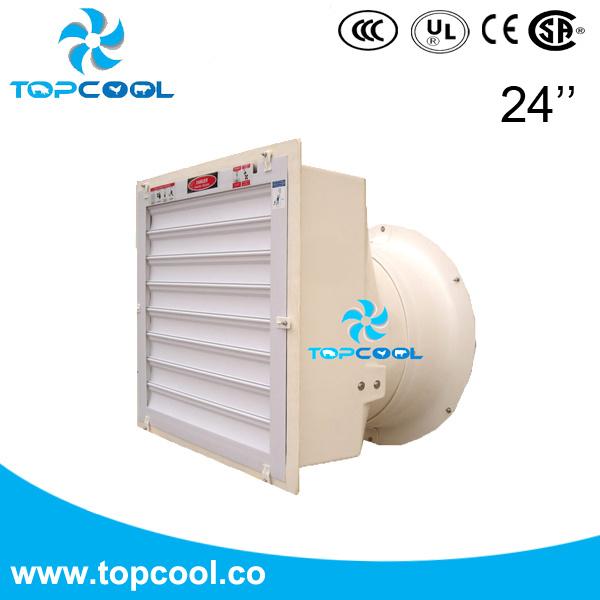 "Fiberglass Housing Exhaust Cone Fan Gfrp 24"" for Livestock Ventilation"