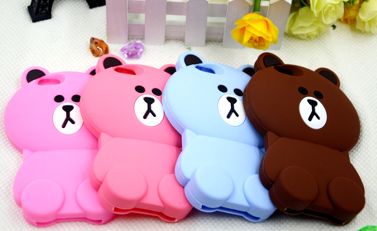 Silicone Phone Case Cartoon Mobile Phone Accessories for iPhone 7plus LG G4 Stylus (XSDW-004)