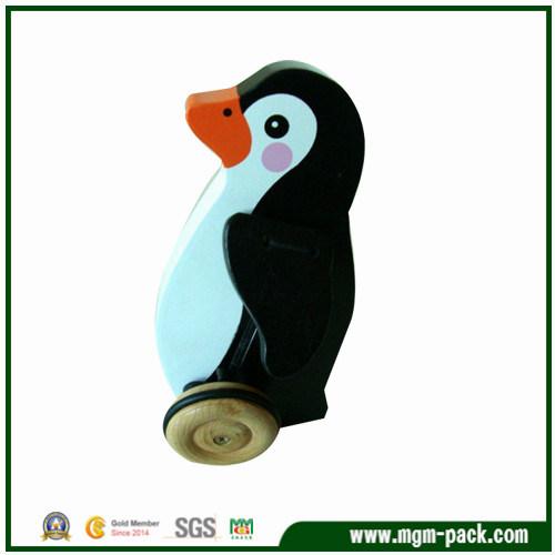 Cute Design Custom Penguin-Shaped Wood Kids Toy