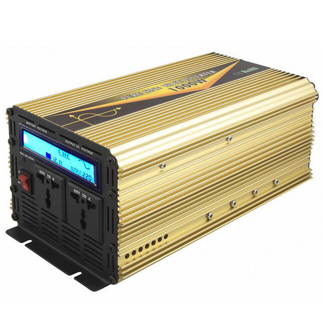 1000W DC12V/24V AC220V/110 Pure Sine Wave Power Inverter with UPS Charge LCD Display