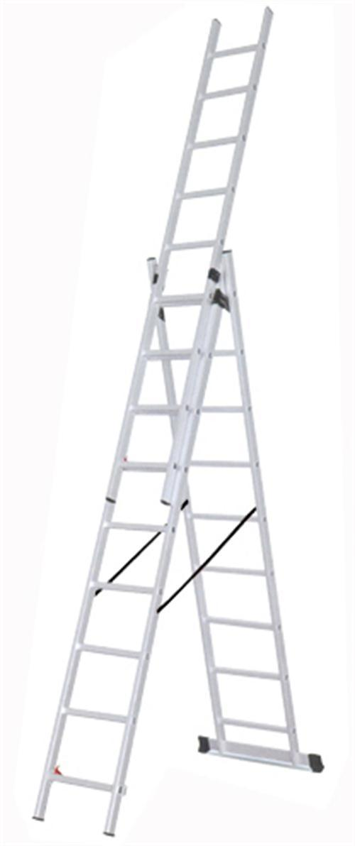 3 Section Extension Ladder : Section extension aluminum ladder
