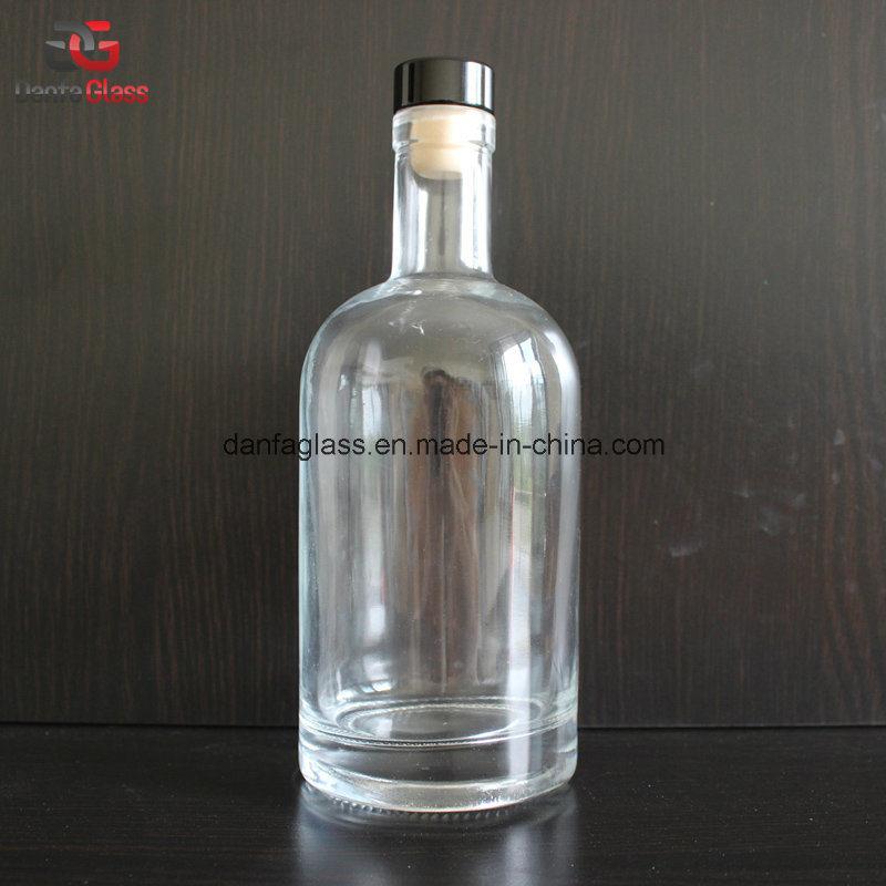750ml Super Premium Glass Whiskey Bottle