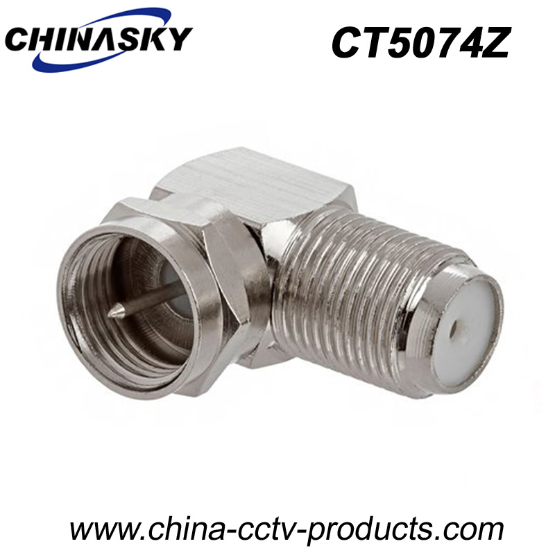 CCTV F Female to F Male Right Angle Type Adapter (CT5074Z)