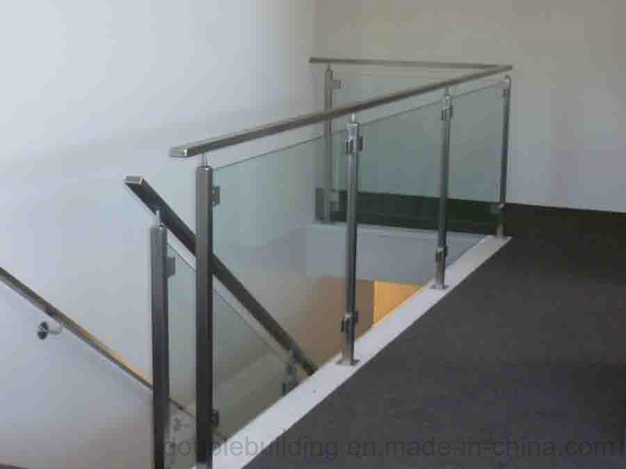 Stainless Steel Balcony Glass Balustrade, Glass Fence, Semi Glass Railing