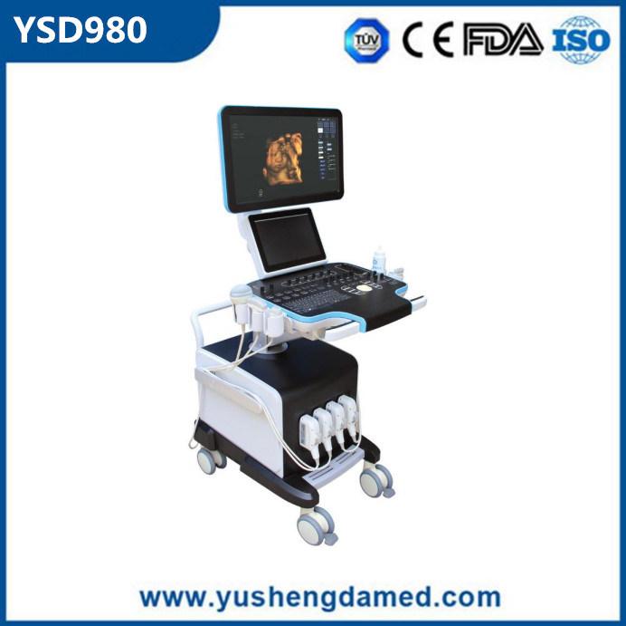 Cheapest Ultrasound Scanner Trolly 4D Color Doppler Ultrasound