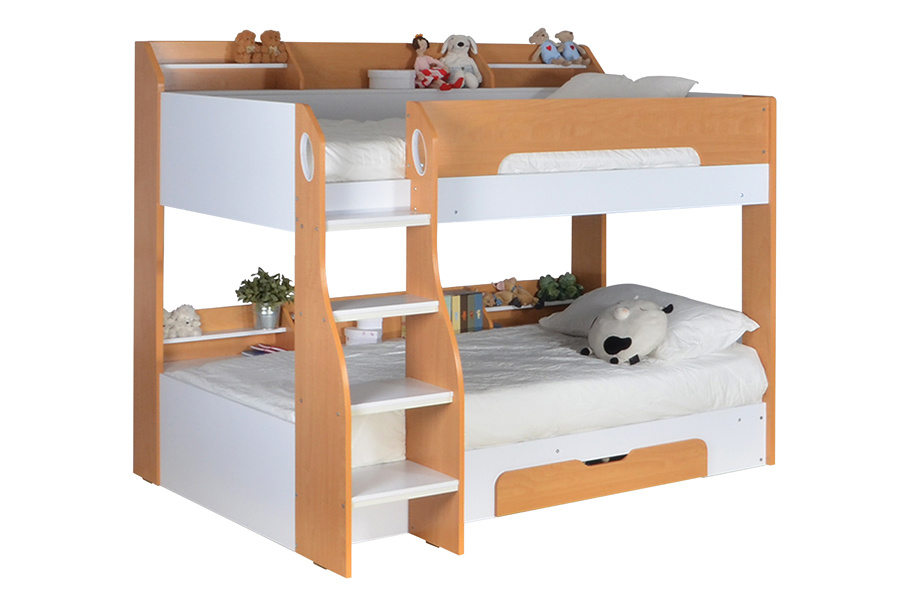Loft Bunk Bed with Storage and Desk Children Furniture