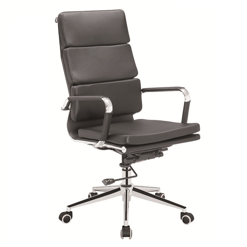 Steel Frame Chair/High Back Excutive PU Padding Chair /Office Chair with Ergonomic Design