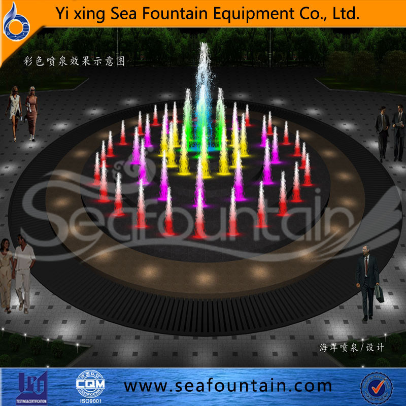 LED Light Decorative Stainless Net Dry Floor Fountain