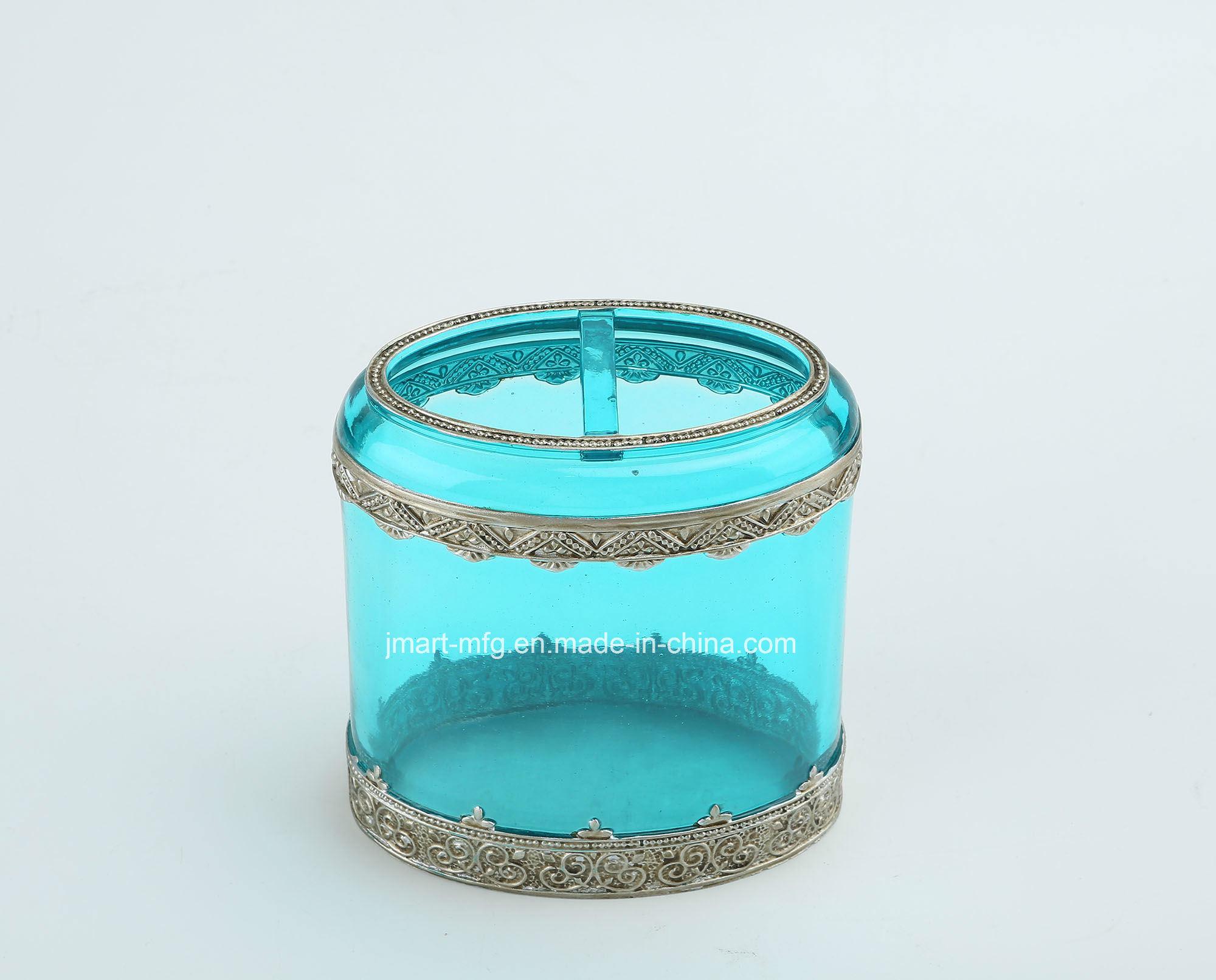 Metallic Hand Paint Super Clear Polyresin Bathroom Accessory