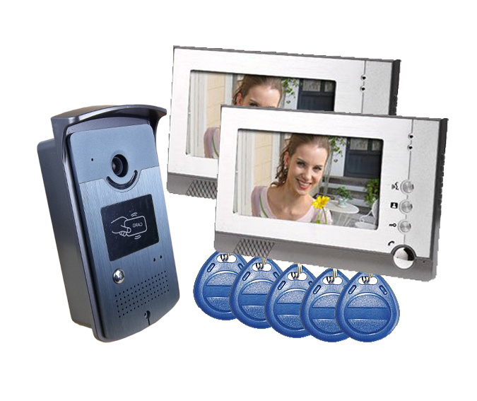 Wired Intercom Video Door Phone Doorbell Home Security System