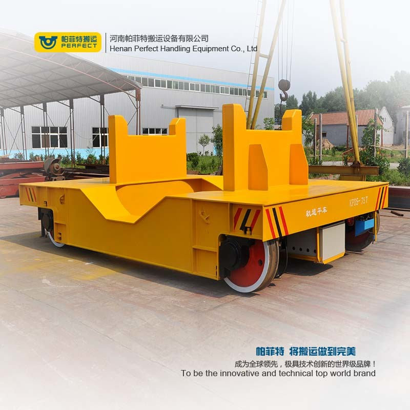 Steel Plant Use Heat Resistance Molten Steel Ladle Transfer Car