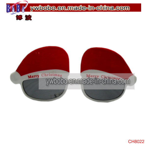 Plastic Merry Christmas Hat Sunglasses Party Promotional Sunglasses (CH8022)