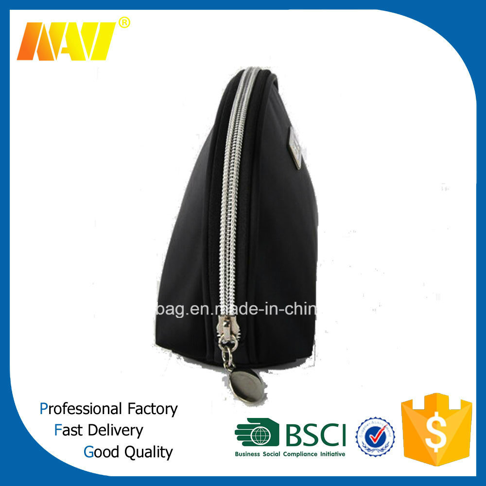 High Quality Black PU Leather Makeup Bag