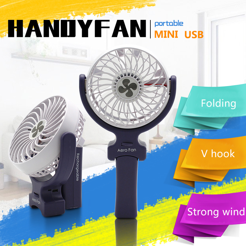 New Gift Portable USB Stand Fan DC Electric Desk Fan Mini Foldable Fan Hand Fan