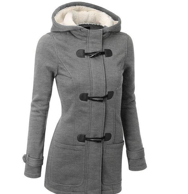 European Hot Selling Ladies Hooded Cotton Sweater Jacket