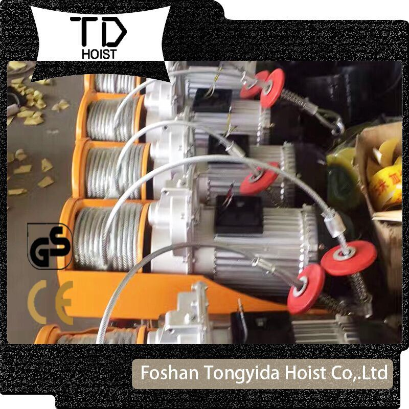 220V 50Hz PA 200kg Mini Electric Wire Rope Hoist china chain block, chain hoist, electric hoists supplier foshan  at soozxer.org