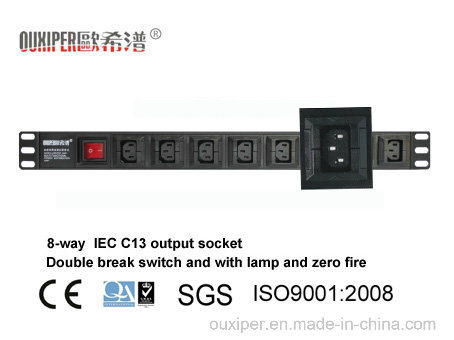 "8-Way IEC C13 1u 19"" PDU (XP-1U-B2AT8LH)"
