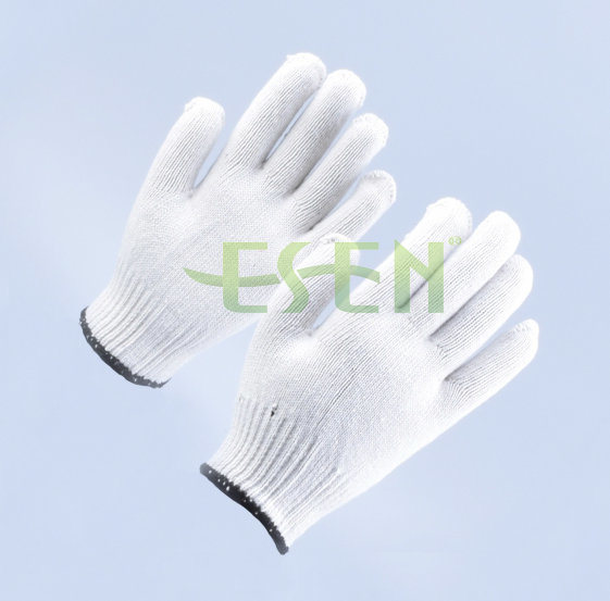 2017 Good Quality and Low Price Industrial Cotton Working Poly Cotton Knitted Gloves Work Gloves