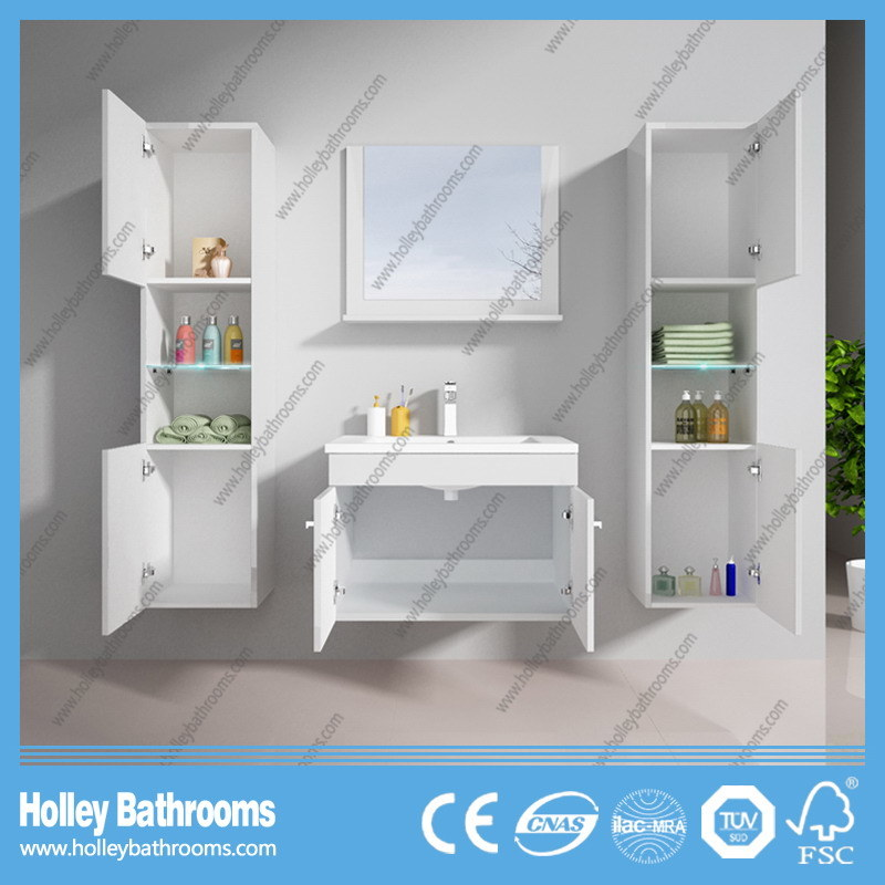 Hot LED Light Europe′s Best Seller Touch Switch High-Gloss Paint Bathroom Mirror Cabinet (B802D)