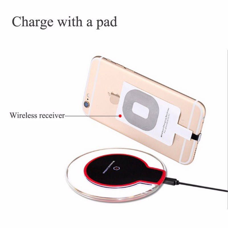Customized Crystal Qi Phone Wireless Charger for Samsung S6 S7 Edge