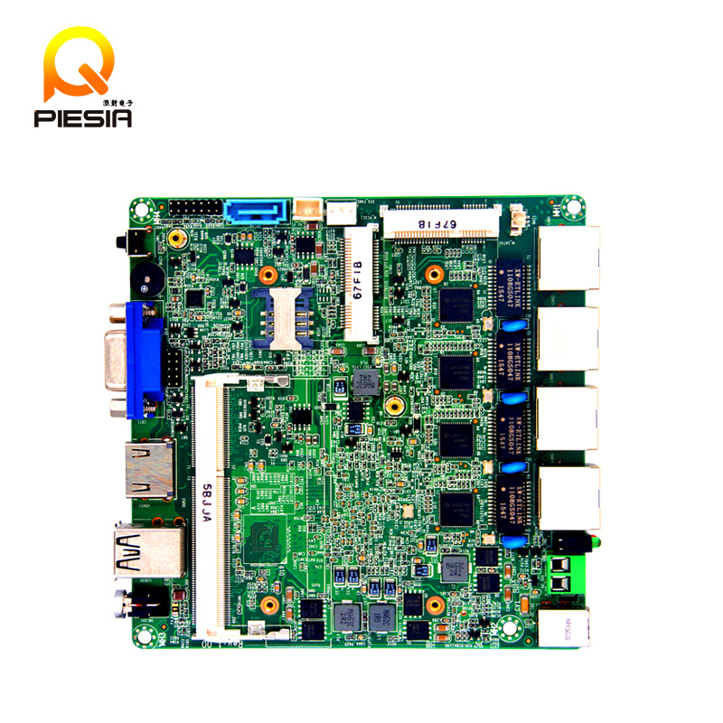 2016 Hot Selling and Smallest Gigabyte 4 LAN Port Firewall Motherboard with J1900 Processor