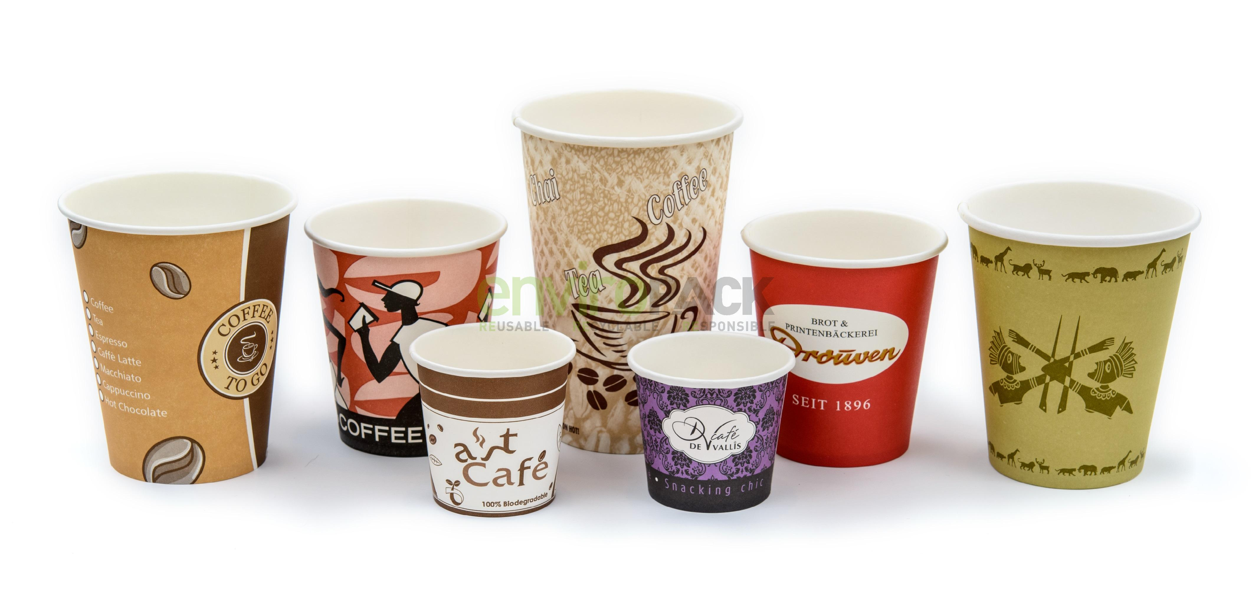 Disposable Printing Paper Cups for Hot Drinking
