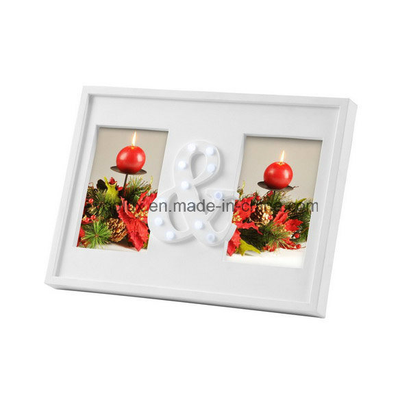 Plastic Frame Home Decoration Craft Promotion Gift LED Photo Frame