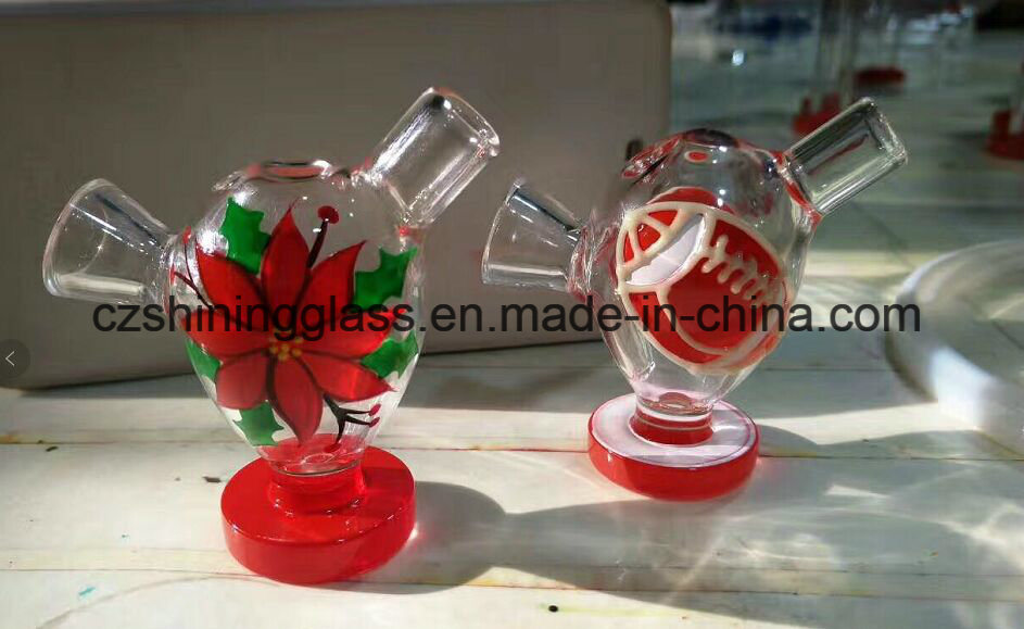 Colorful Flower Eggs Shape Water-Drop Martian Glass Bubbler