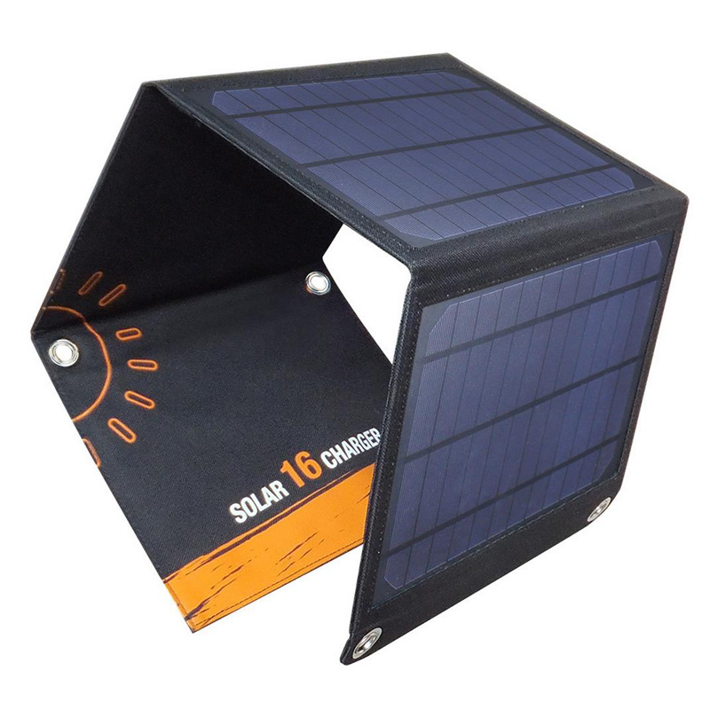 Universal 16W Folding Solar Panel Charger External Power Bank
