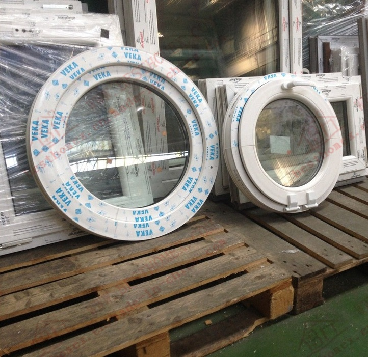 Professional Manufacturer of PVC Circular Casement Window (BHP-RW07)