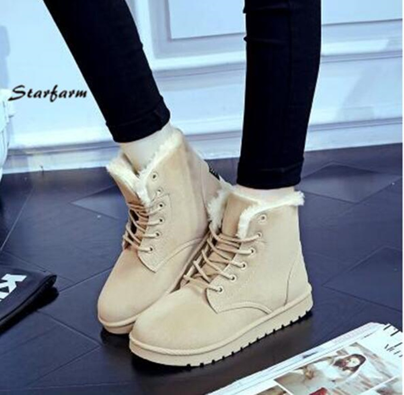 Tan Color Lady Lace Boots for Winter