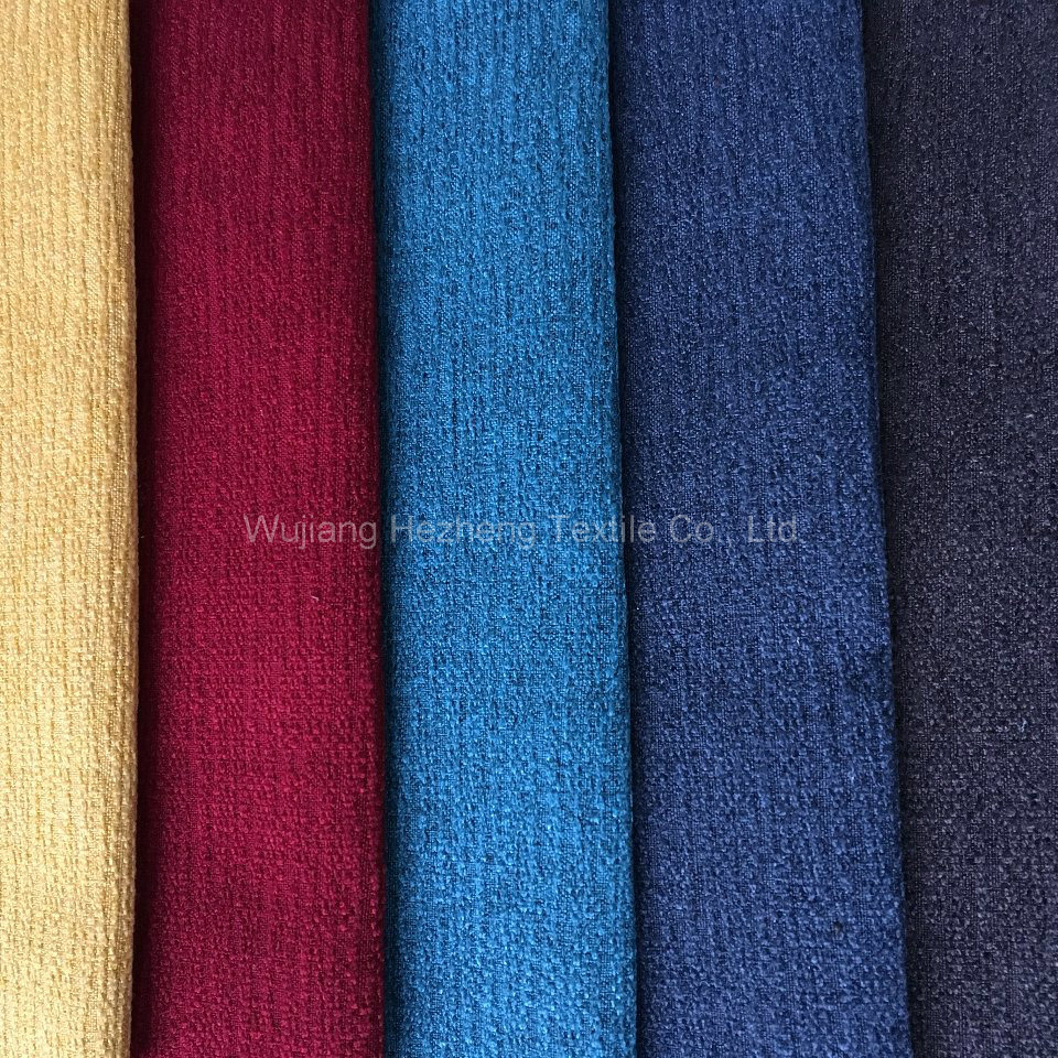 Polyester Linen Furniture Hometextile Sofa Upholstery Fabric