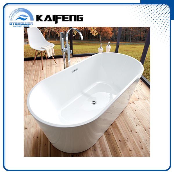 Ellipse Acrylic Plain Bathtub (KF-715B)