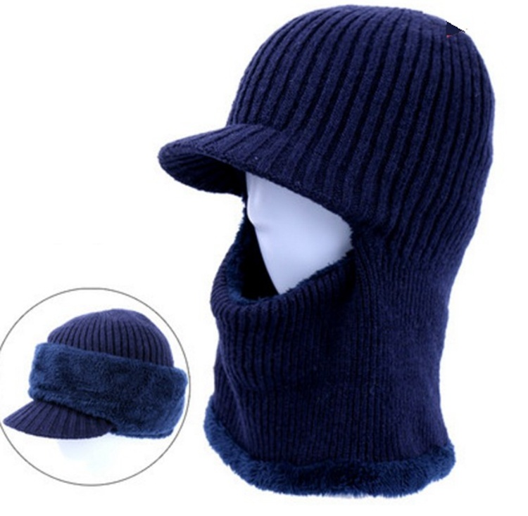 Knitted Balaclava with Little Brim