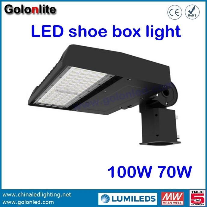 High Quality Best Price Super Bright 120lm/W Factory 100W 70W LED Shoebox Light