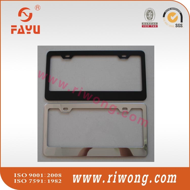 Metal License Plate Frame, Plastic License Plate Frame, Steel Car Number Plate Frame