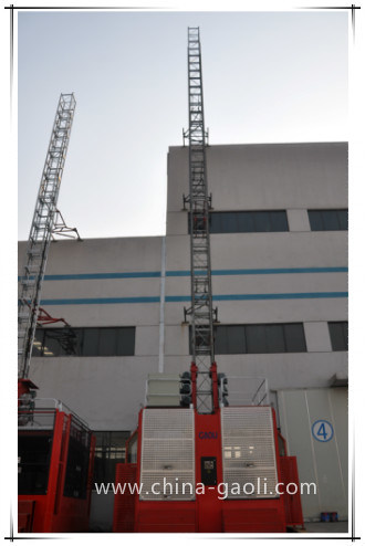 Gaoli Frequency Middle Speed Electric Powered Construction Lifter (SC200/200G)