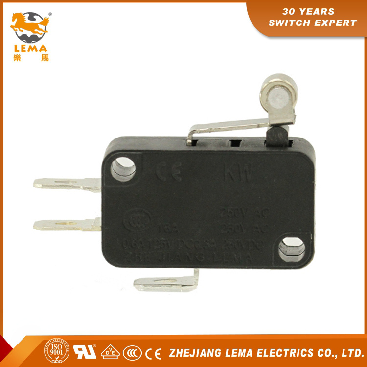 Hot Sell Kw7-3 Roller Lever Actuator Micro Switch