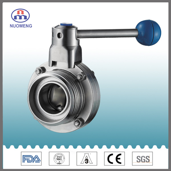 Stainless Steel Manual Threaded Butterfly Valve (DIN-No. RD1309)