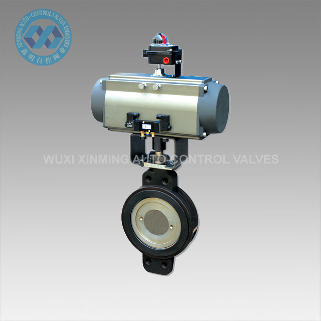 Water Butterfly Valve with Pneumatic Actuator
