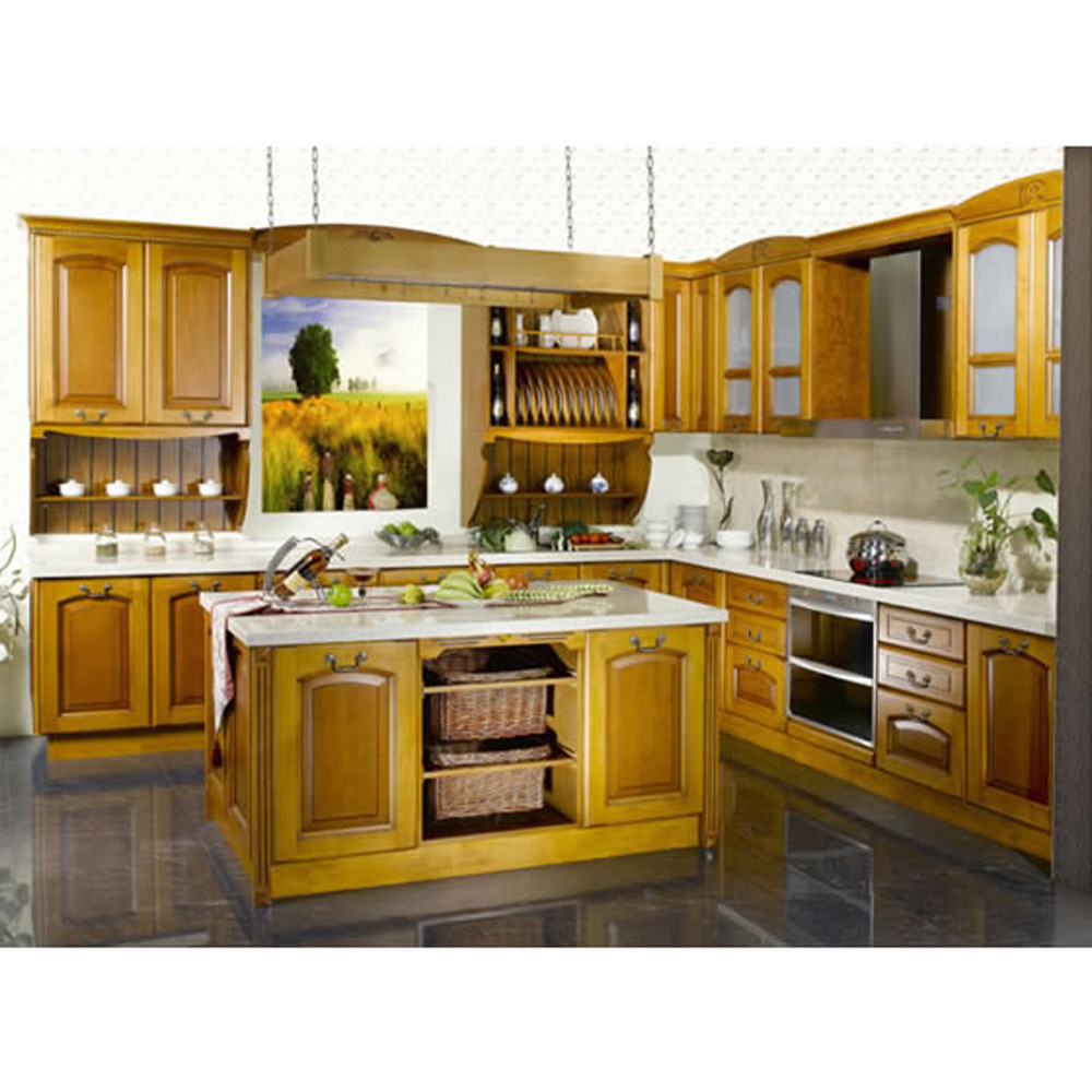 China Walnut Solid Wood Kitchen Cabinetry Photos