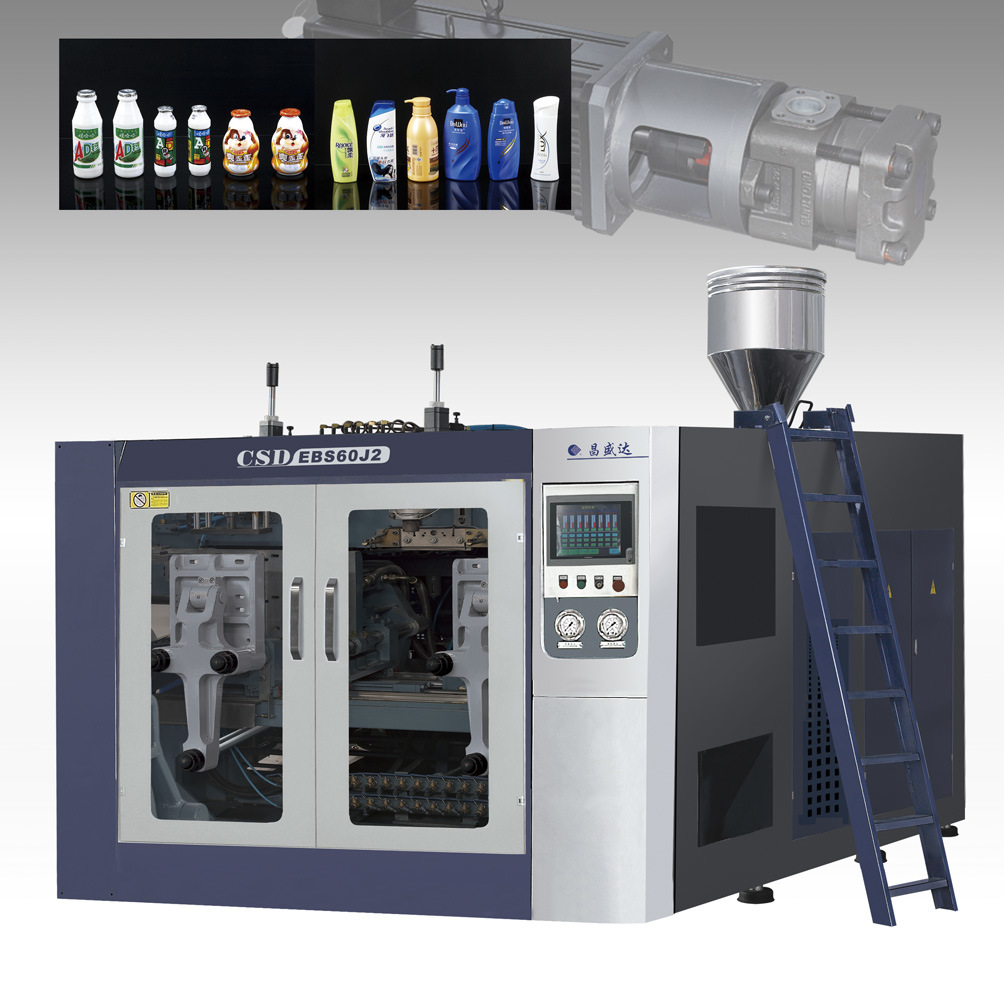 CE Approved Double-Station (Energy Efficiency With Servo Motor) Extrusion Blow Molding Machine (CSD-EBS60)