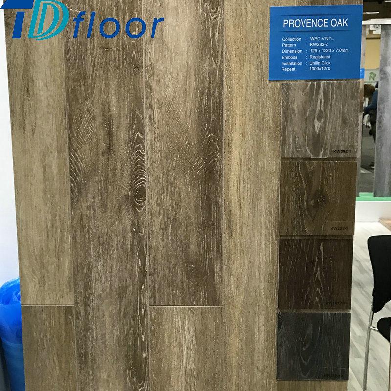 High Quality Wood Plastic Composite Waterproof Oak Wood WPC Flooring for 5mm 5.5mm 6mm 7mm