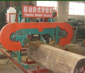 Portable horizontal woodworking machine band saw mill